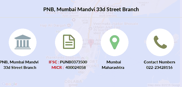 Punjab-national-bank Mumbai-mandvi-33d-street branch