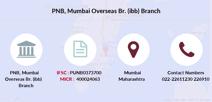 Punjab-national-bank Mumbai-overseas-br-ibb branch