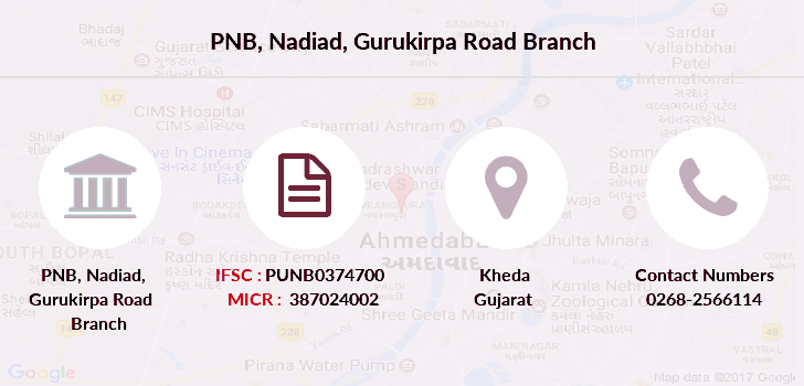 Punjab-national-bank Nadiad-gurukirpa-road branch