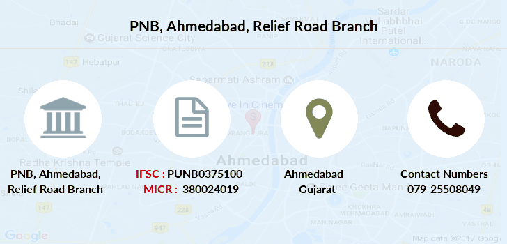 Punjab-national-bank Ahmedabad-relief-road branch