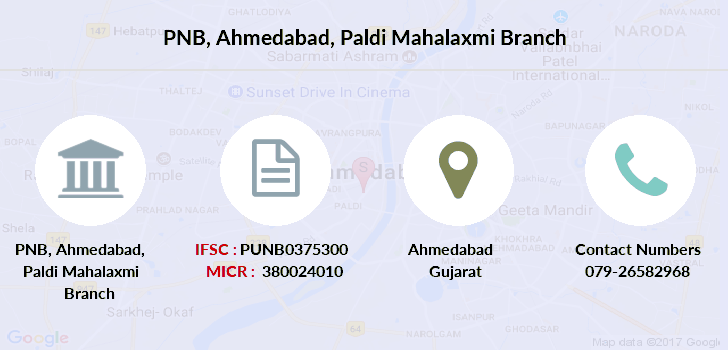 Punjab-national-bank Ahmedabad-paldi-mahalaxmi branch