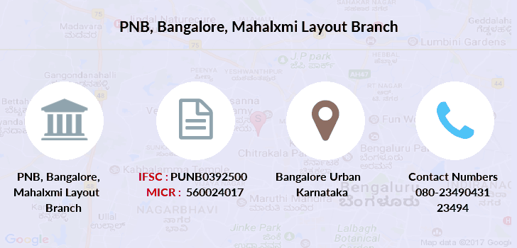 Punjab-national-bank Bangalore-mahalxmi-layout branch