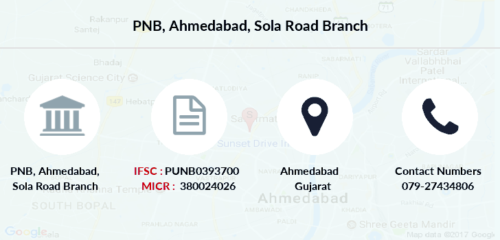Punjab-national-bank Ahmedabad-sola-road branch