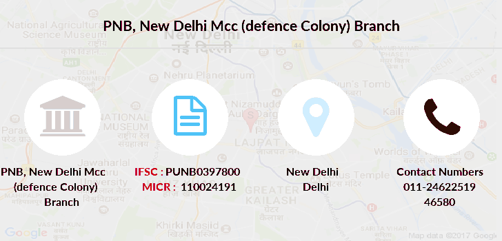 Punjab-national-bank New-delhi-mcc-defence-colony branch