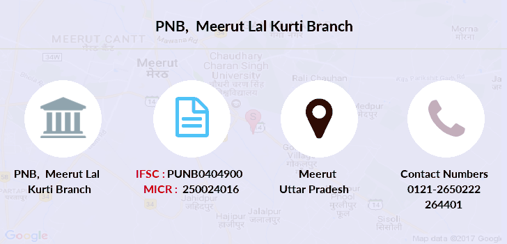 Punjab-national-bank Meerut-lal-kurti branch