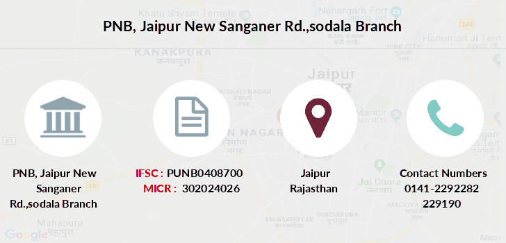 Punjab-national-bank Jaipur-new-sanganer-rd-sodala branch