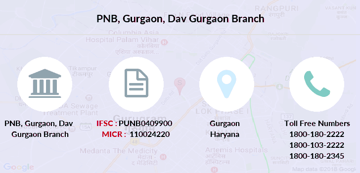 Punjab-national-bank Gurgaon-dav-gurgaon branch