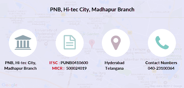 Punjab-national-bank Hi-tec-city-madhapur branch