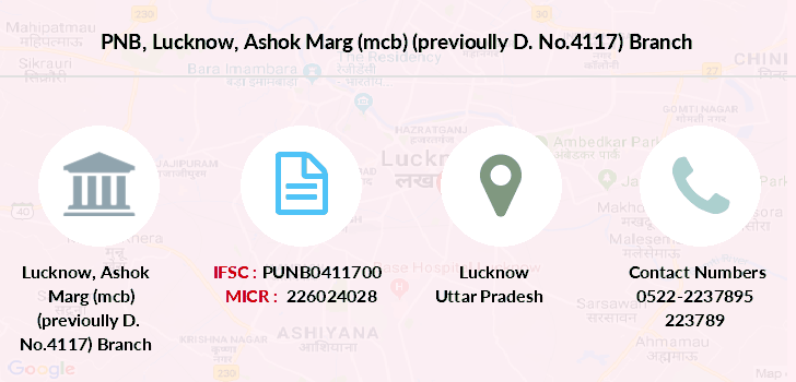 Punjab-national-bank Lucknow-ashok-marg-mcb-previoully-d-no-4117 branch