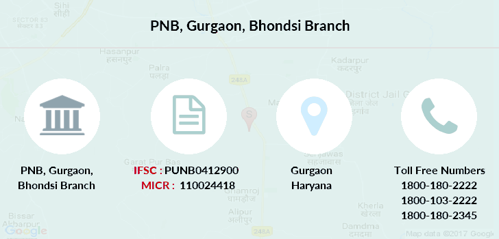 Punjab-national-bank Gurgaon-bhondsi branch