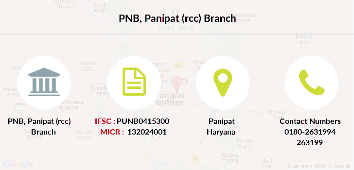 Punjab-national-bank Panipat-rcc branch