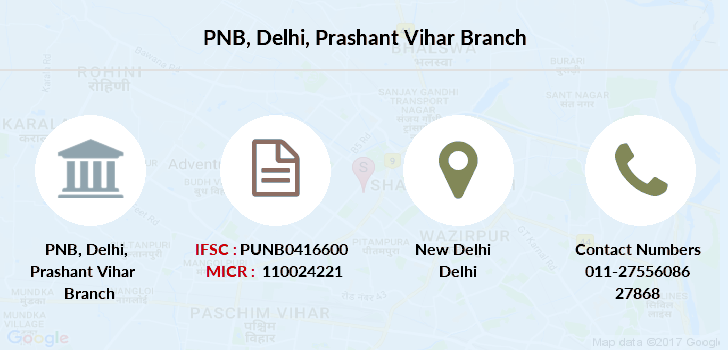 Punjab-national-bank Delhi-prashant-vihar branch