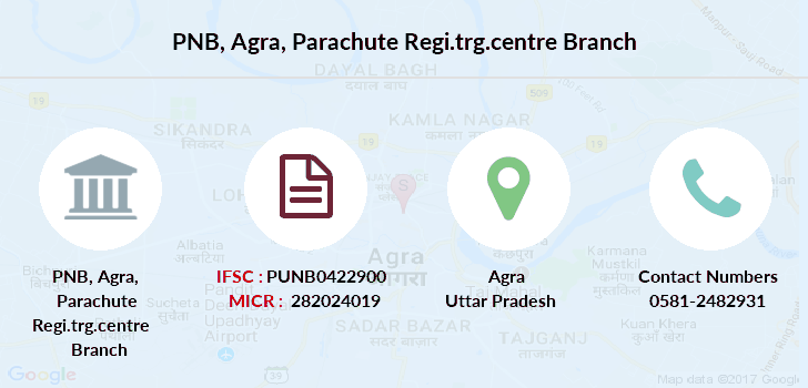 Punjab-national-bank Agra-parachute-regi-trg-centre branch