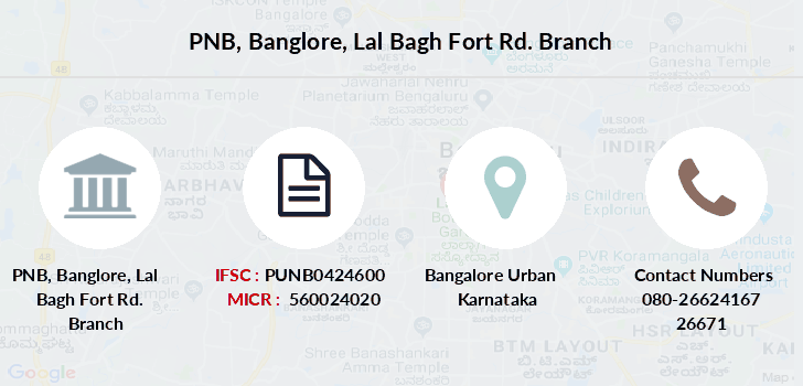 Punjab-national-bank Banglore-lal-bagh-fort-rd branch