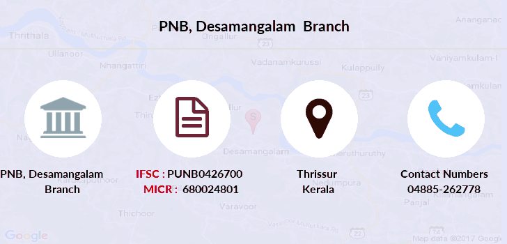 Punjab-national-bank Desamangalam branch