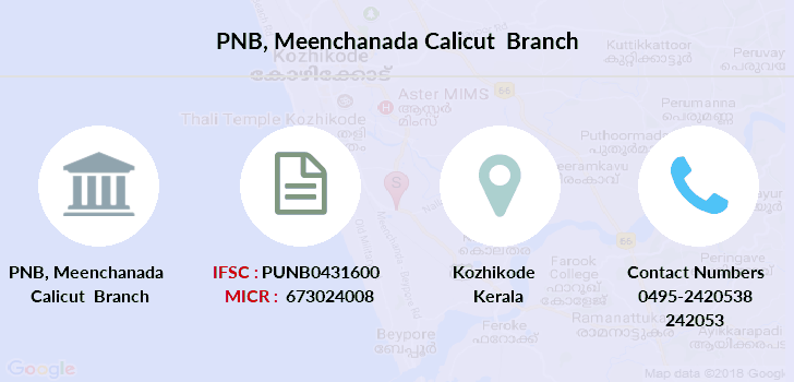 Punjab-national-bank Meenchanada-calicut branch