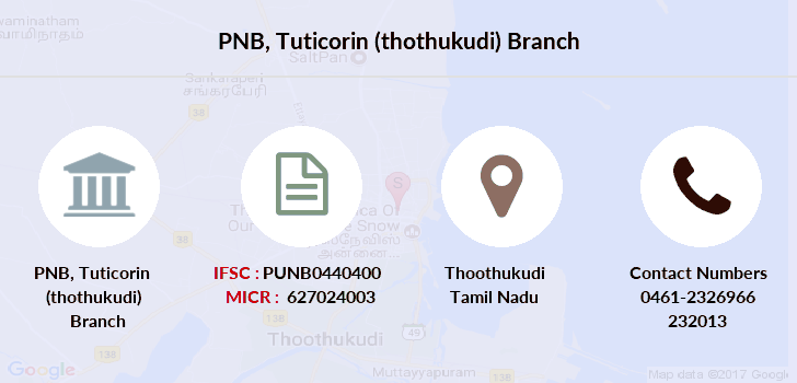 Punjab-national-bank Tuticorin-thothukudi branch