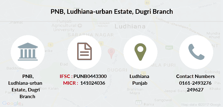 Punjab-national-bank Ludhiana-urban-estate-dugri branch