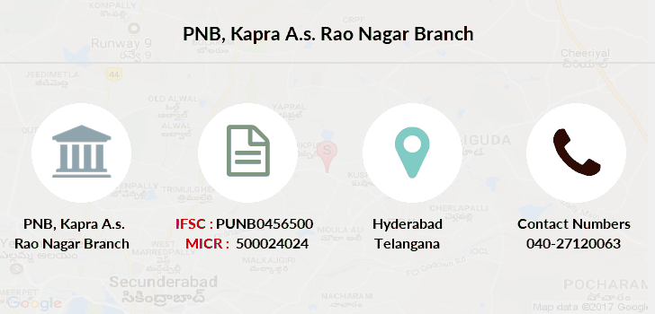 Punjab-national-bank Kapra-a-s-rao-nagar branch