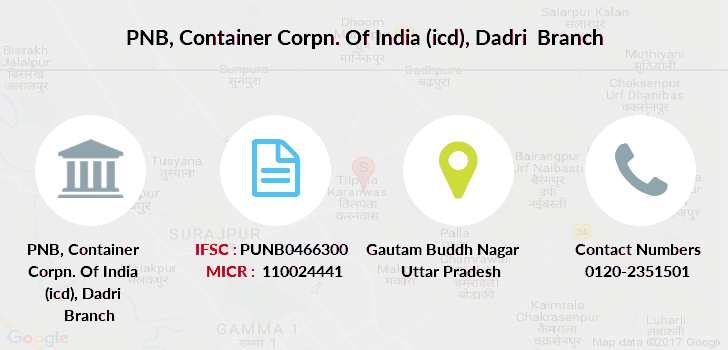 Punjab-national-bank Container-corpn-of-india-icd-dadri branch