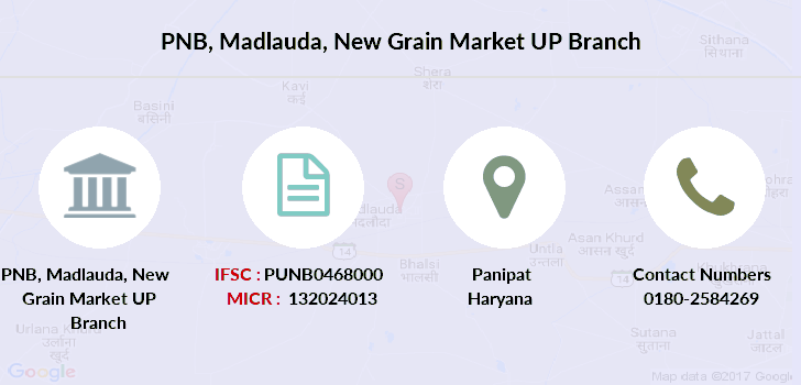 Punjab-national-bank Madlauda-new-grain-market-up branch