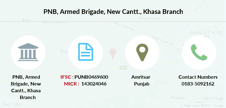 Punjab-national-bank Armed-brigade-new-cantt-khasa branch