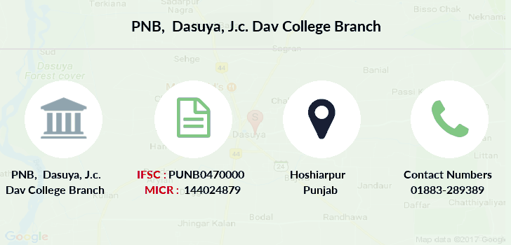 Punjab-national-bank Dasuya-j-c-dav-college branch