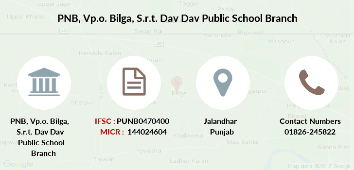 Punjab-national-bank Vp-o-bilga-s-r-t-dav-dav-public-school branch