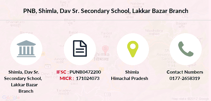 Punjab-national-bank Shimla-dav-sr-secondary-school-lakkar-bazar branch