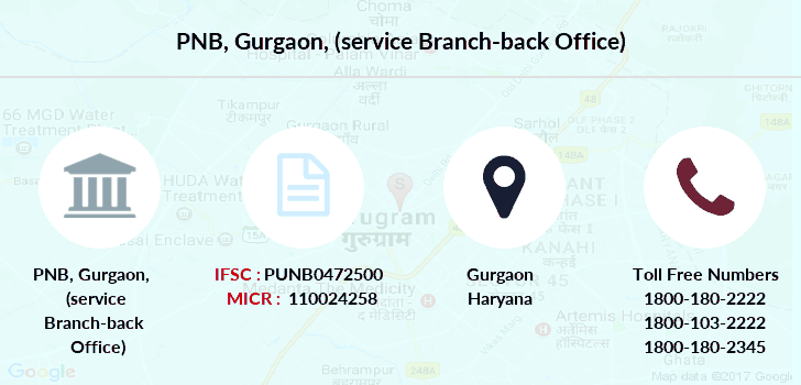 Punjab-national-bank Gurgaon-service-branch-back-office branch