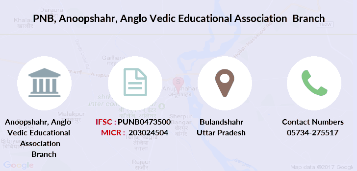 Punjab-national-bank Anoopshahr-anglo-vedic-educational-association branch