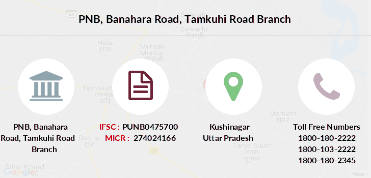 Punjab-national-bank Banahara-road-tamkuhi-road branch