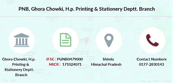 Punjab-national-bank Ghora-chowki-h-p-printing-stationery-deptt branch