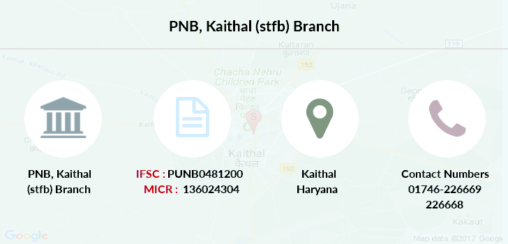 Punjab-national-bank Kaithal-stfb branch