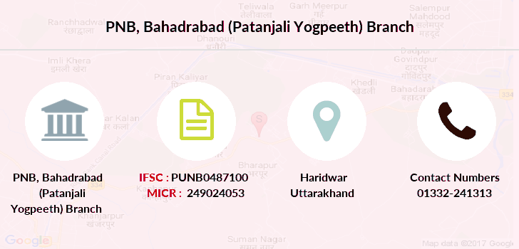 Punjab-national-bank Bahadrabad-patanjali-yogpeeth branch
