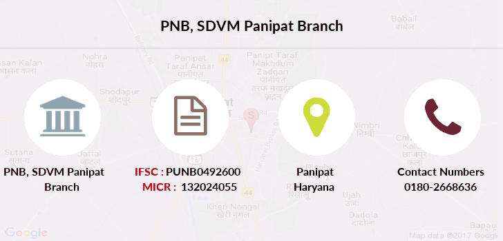 Punjab-national-bank Sdvm-panipat branch