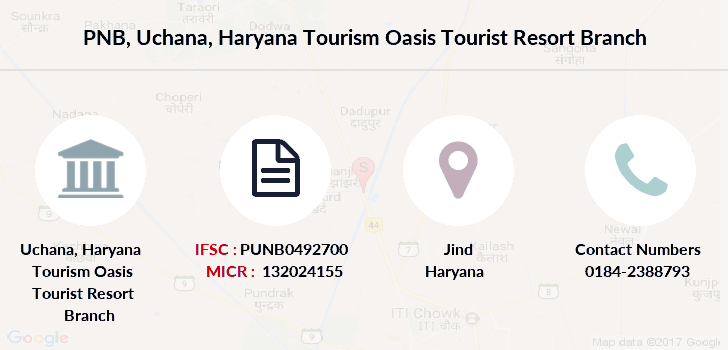Punjab-national-bank Uchana-haryana-tourism-oasis-tourist-resort branch