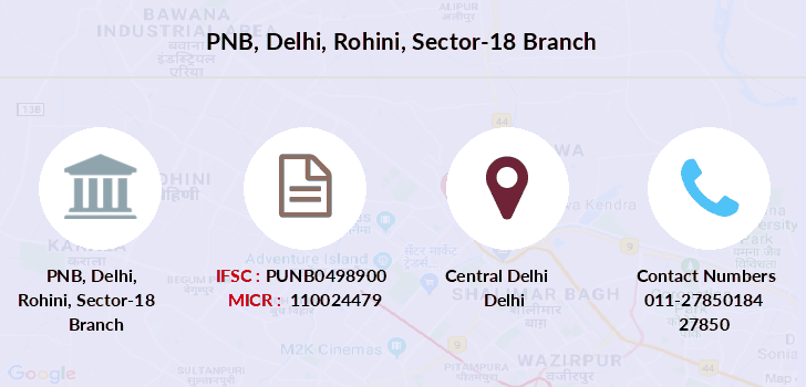Punjab-national-bank Delhi-rohini-sector-18 branch