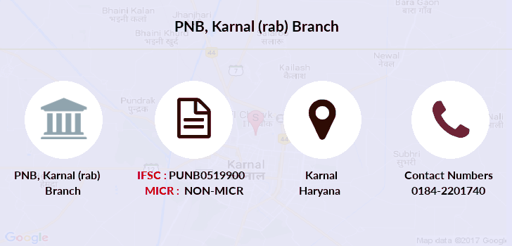 Punjab-national-bank Karnal-rab branch