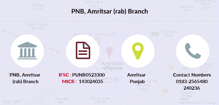 Punjab-national-bank Amritsar-rab branch