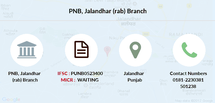 Punjab-national-bank Jalandhar-rab branch