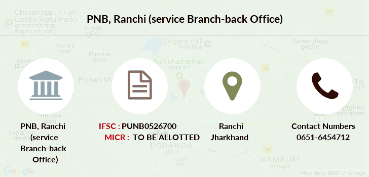 Punjab-national-bank Ranchi-service-branch-back-office branch
