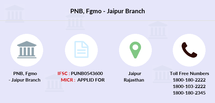Punjab-national-bank Fgmo-jaipur branch