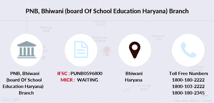 Punjab-national-bank Bhiwani-board-of-school-education-haryana branch