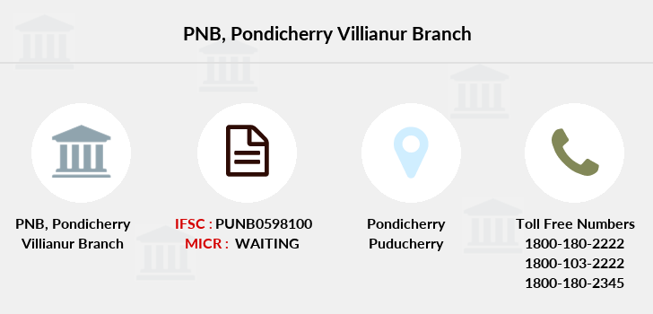 Punjab-national-bank Pondicherry-villianur branch