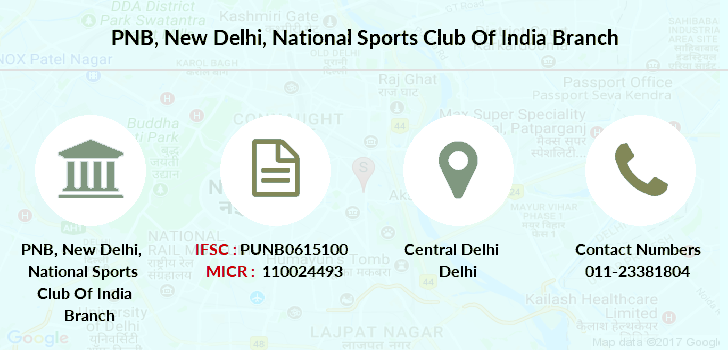 Punjab-national-bank New-delhi-national-sports-club-of-india branch