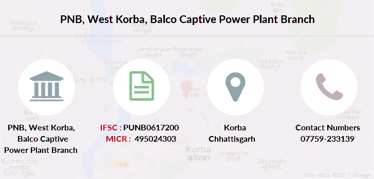 Punjab-national-bank West-korba-balco-captive-power-plant branch