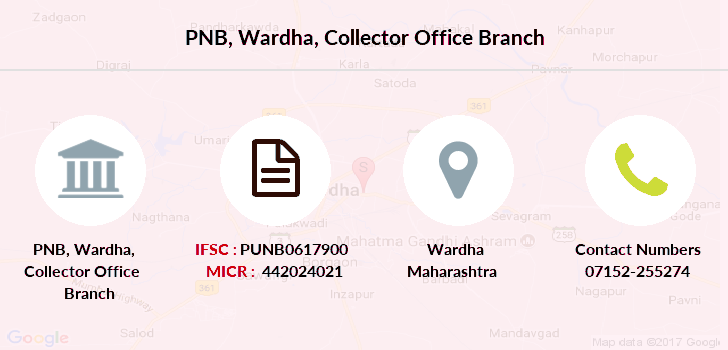 PNB Wardha, Collector Office IFSC Code PUNB0617900