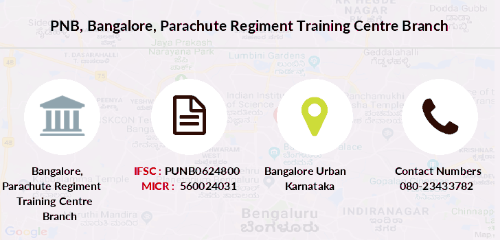 Punjab-national-bank Bangalore-parachute-regiment-training-centre branch