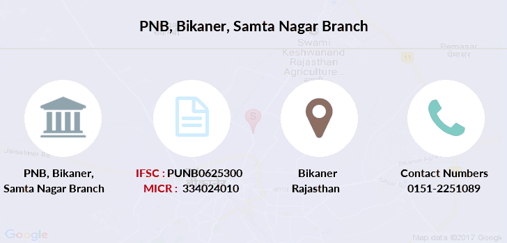 Punjab-national-bank Bikaner-samta-nagar branch
